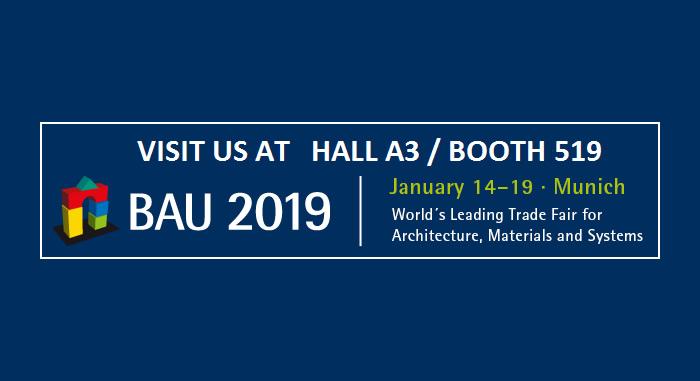 BAU 2019 – International Trade Fuarında Buluşalım