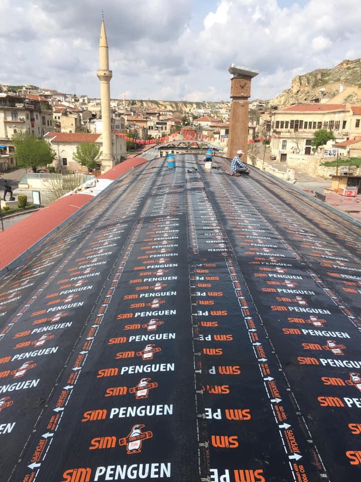 İzoteknik İzolasyon-Ürgüp Cumhuriyet Meydanı Çatı Yalıtımı-SİM Penguen